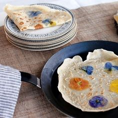 In pansy crepes: | Community Post: 11 Extreme But Elegant Edible Flower Foods