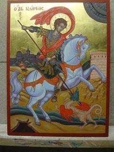 My Art Studio, Orthodox Icons, Santorini, Saints, Religion, Greek, My Arts, Illustrations, Painting