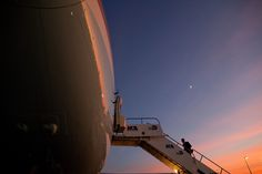 Obama boarded Air Force One while the sun set at Miami International Airport.(Photo by Pete Souza/The White House) via @AOL