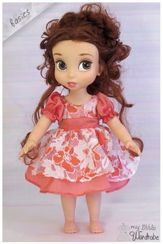 Disney Animator doll Clothes - Peaches and cream dress - Basics for Disney… Disney Princess Dolls, Disney Dolls, Disney Animators Collection Dolls, Barbie Kids, Cream Color Dress, Disney Animator Doll, Toddler Dolls, Madame Alexander Dolls, Cute Disney