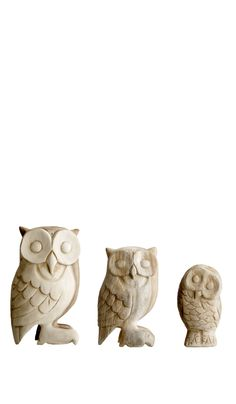 Wood owls - Plümo Ltd || Good bookends, maybe.
