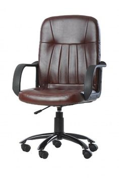 New Brown Modern Office Executive Chair Computer Desk Task Hydraulic O2221 *** Check out this great product.Note:It is affiliate link to Amazon.