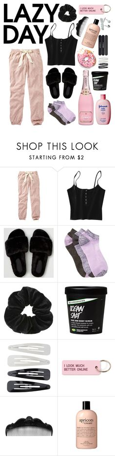 """""""Lazy Day"""" by snakehandjimmy ❤ liked on Polyvore featuring Fat Face, American Eagle Outfitters, Zella, Miss Selfridge, Forever 21, Various Projects, Anna Sui, philosophy and MAC Cosmetics"""