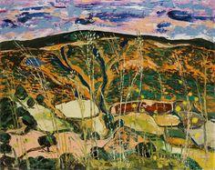 """Art from Spain - Benjamín Palencia (Albacete,1894 - Madrid, 1980) fue un pintor español, fundador de la """"Escuela de Vallecas"""". Deslumbrado inicialmente por un surrealismo, guardará en su retina ciertos aspectos del cubismo que resultarán claves en la esquematización de sus paisajes. A partir de los años cuarentas recupera gran parte de la poética del paisaje castellano, y desemboca en el llamado """"fauvismo ibérico""""."""