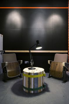 Lounge at Festival Village, Southbank Centre.