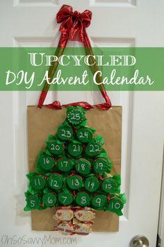 Upcycled DIY Advent Calendar