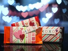 Valentine's Day Candy Bar Wrappers #Valentine #candy