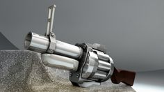 Modélisation Cinema 4D d' un Grenade Launcher, arme du jeu TF2 ( Team Fortress 2 )