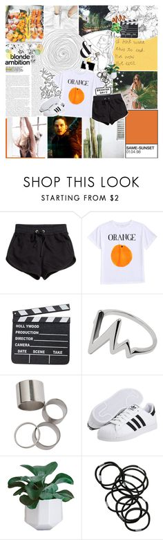 """i am just a man who lusts, gives, tries"" by same-sunset ❤ liked on Polyvore featuring H&M, adidas Originals, Monki and nicolewantstoseethis"