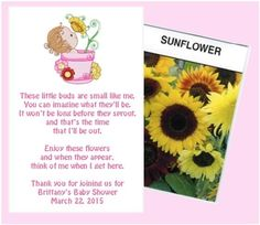 SUNFLOWER BABY SHOWER Printable Party Game Or Gift   Immediate Download    Diy | Sunflower Baby Showers, Printable Party And Party Games