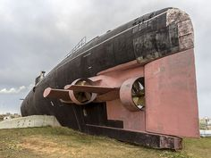 Tango Class submarine B-307, being moved to her final home - Togliatti Museum of Technology, Samara, Russia
