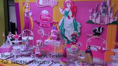 Decoracion, torta princesas