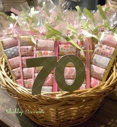 Shabby Brocante Adult Party Favors 90th Birthday Parties 70