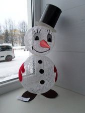 40 brilliant DIY snowman craft ideas for a fantastic winter - winter . 40 brilliant DIY snowman craft ideas for a fantastic winter - winter - Crafts For Kids To Make, Christmas Crafts For Kids, Christmas Art, Christmas Projects, Holiday Crafts, Diy And Crafts, Winter Christmas, Snowman Crafts, Snowman Ornaments