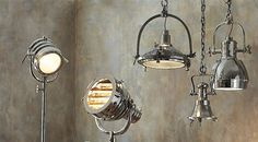 Industrial lighting, available to order at Interiosity, Douglas, Cork.