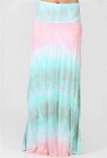 Tie Dye Crazy Maxi Skirt - Multi