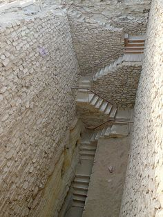 Stairs in the south part of the pyramid of Djoser. I think I've actually walked those...