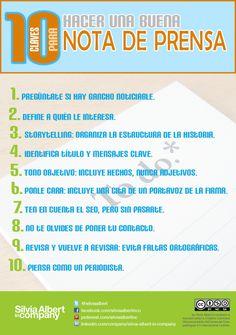 10 pasos hacer nota de prensa 721x1024 La nota de prensa no ha muerto, pero hay que saber hacerla