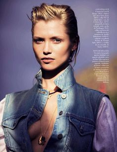 7faa7cf4e6c89 Hana Jirickova by David Bellemere for Vogue Spain April 2014 9 David  Burton, Moda Jeans