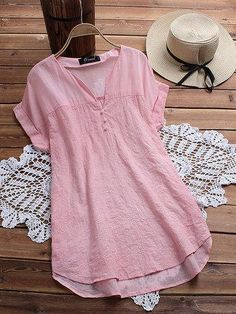 Embroidery V Neck Blouses $29.90