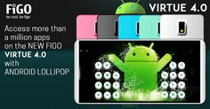 Access More than a million apps on the NEW FIGO VIRTUE4.0 with ANDROID LOLLIPOP. BUY NOW. http://amzn.to/2eMn95D