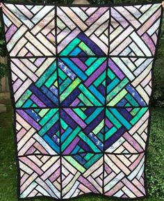 Fractured Paint Box, Quiltworx.com, Made by Theresa Lang