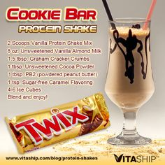 Cookie Bar Protein Shake .. Tweak a bit for THM friendly ingredients