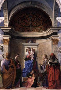 Giovanni Bellini, Pala di San Zaccaria, 1505, olio su tavola, Chiesa di San Zaccaria (Venezia).