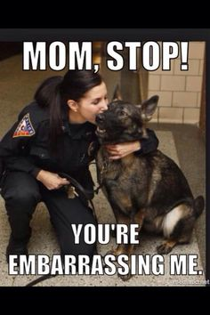 The dog is me. I don't like getting kisses from my mom. It just feels weird to me. And embarrassing....