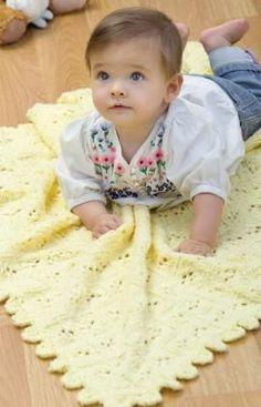 Strickmuster für Baby-Decke mit Ajourmuster