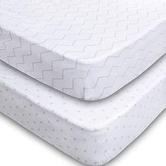 Crib Sheets - 2 Pack Fitted 100% Soft Jersey Cotton Sheet... https://www.amazon.com/dp/B01DFB709O/ref=cm_sw_r_pi_dp_nYaBxbFQX0BQM