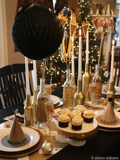 New Year's Party Table made with @canvascorp products.