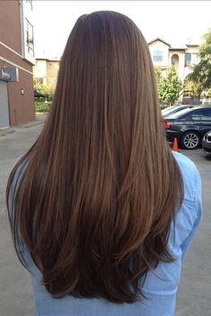 How To Grow Long Beautiful Hair - Hair & Beauty Long Straight Layered Hair, Haircuts For Long Hair Straight, Long Curly, Long Hair Haircuts, Long Hair Styles Straight, Thick Long Hair, Layers For Long Hair, Straight Cut, Hair Styles Long Layers