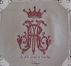 Love the monogram with the crown