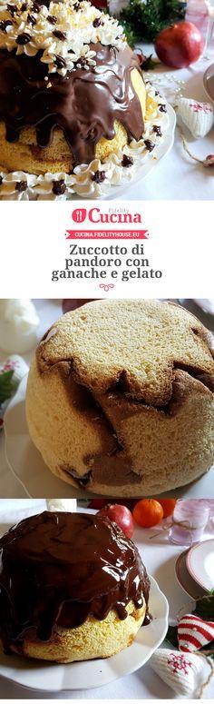 Zuccotto di pandoro con ganache e gelato della nostra utente Grazia. Unisciti alla nostra Community ed invia le tue ricette!