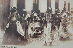 Cartão-Postal Antigo - Carnaval do Rio de Janeiro 1930  Resgatado pela Universidade Federal de São Carlos