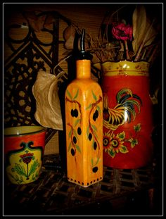 Beautiful Rustic Olive Oil Bottle by BajaGypsy on Etsy