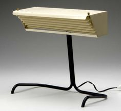 JACQUES BINY (Attr.) Enameled metal table lamp | #612341