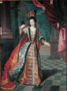 Marie Louise Elisabeth d'Orleans Duchess of Berry by Pierre Gobert,1718
