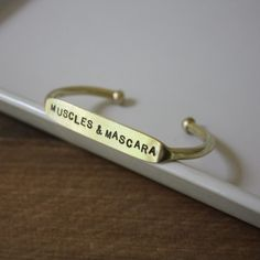 Muscles and Mascara Bracelet by The Curated Gift Shop
