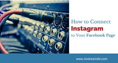 How to connect your Instagram account to your Facebook page. #facebooktips #instagramtips