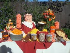 Not the colors - but this is SUPER cool!!!  The popcorn and candy bar for my wedding. A HUGE hit!!  - Anna Ochoatovar