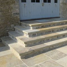 Flagstone Patio Steps Landscapes 45 Ideas For 2019 Patio Steps, Garden Steps, Diy Patio, Backyard Patio, Backyard Landscaping, Concrete Patios, Flagstone Patio, Terrace Design, Garden Design