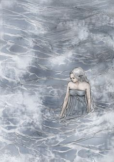 "Uinen by ejbeachy Uinen is one of the Maiar.   ""...Uinen, the Lady of the Seas, whose hair lies spread through all waters under sky. All creatures she loves that live in the salt streams, and all weeds that grow there; to her mariners cry, for she can lay calm upon the waves, restraining the wildness of Osse. The Numenoreans lived long in her protection, and held her in reverence equal to the Valar."" -The Silmarillion, J.R.R. Tolkien"