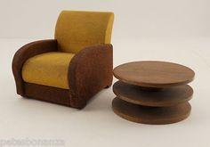Vintage Art Deco Mid Century Modern Doll House Furniture Strombecker Playthings