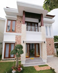 Construction Result of Mrs. House Arch Design, Bungalow House Design, Villa Design, Roof Design, Small House Design, Modern House Design, Design Home Plans, Home Room Design, Minimalist House Design