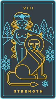 The meaning of Strength from the Golden Thread Tarot deck: Balance your primal force with intuition and compassion. Tarot Card Decks, Tarot Cards, Golden Thread Tarot, Strength Tarot, Tarot Horoscope, Tarot Tattoo, Tarot Major Arcana, Free Tarot, Tarot Card Meanings