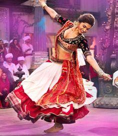 Deepika Padukone in Ghagra in Ram Leela