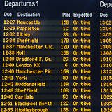 train timetable :: check in/out :: evening's timetable
