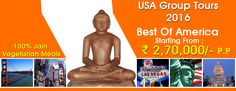 #USAGroupTours2016  #USATourPackages  #JainGroupTours Book Budget Group Tours and Holiday Packages for USA 2016 from Delhi India, our group tours specially design for Jain People with Special Jain Food at amazing discounted prices.